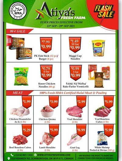 Atiya's Fresh Farm Flyer September 23 to 29