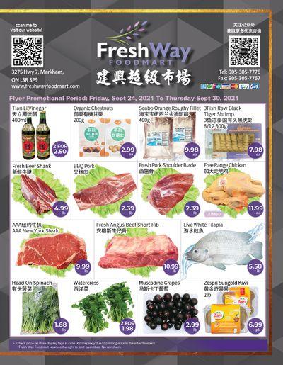 FreshWay Foodmart Flyer September 24 to 30