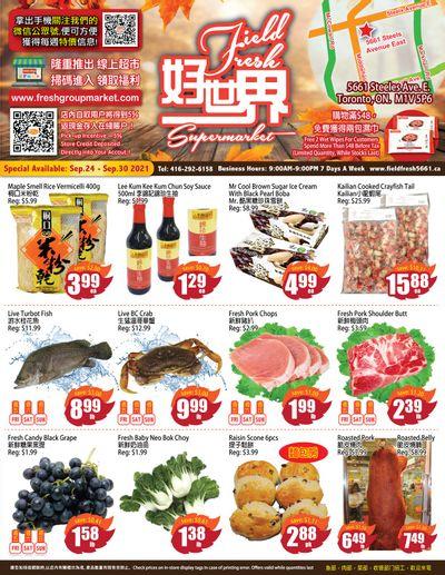 Field Fresh Supermarket Flyer September 24 to 30