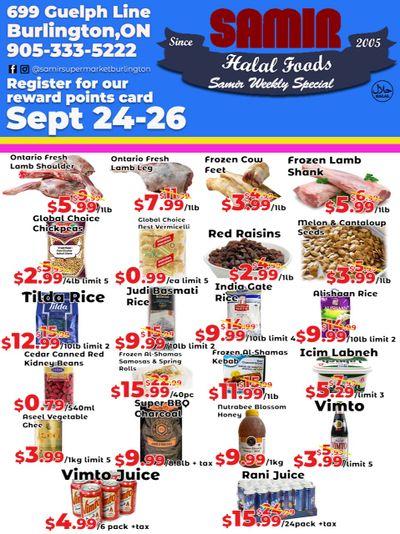 Samir Supermarket Flyer September 24 to 27