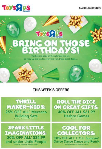 Toys R Us Flyer September 23 to 29