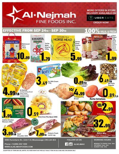 Alnejmah Fine Foods Inc. Flyer September 24 to 30