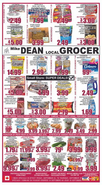 Mike Dean Local Grocer Flyer September 24 to 30