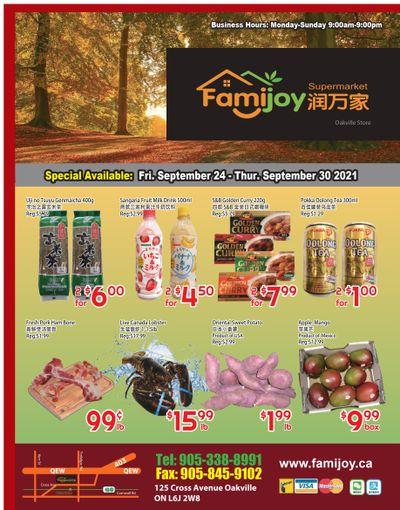 Famijoy Supermarket Flyer September 24 to 30
