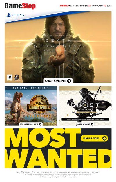 GameStop Flyer September 24 to 30