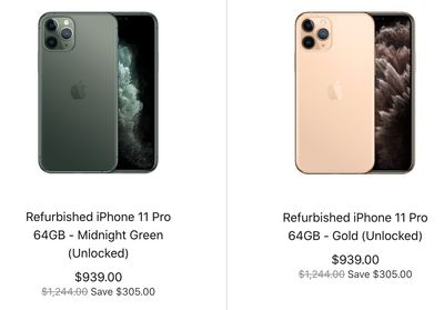 Apple Canada Sale: Save Up to $560 Off Refurbished iPhone XS Max, iPhone 11 & iPhone 11 Pro
