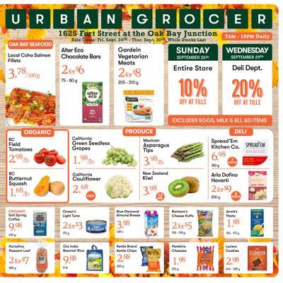 Urban Grocer Flyer September 24 to 30