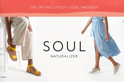 Naturalizer Canada Sale: Save 25% off SOUL Naturalizer Styles with Coupon Code!