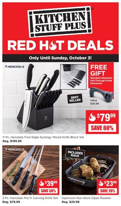 Kitchen Stuff Plus Red Hot Deals Flyer September 27 to October 3