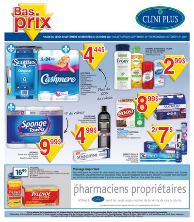Clini Plus Flyer September 30 to October 13