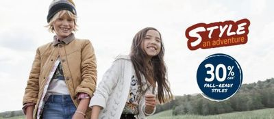 Carter's OshKosh B'gosh Canada Deals: Save 30% OFF Fall-Ready Styles + Extra 25% OFF Clearance + More