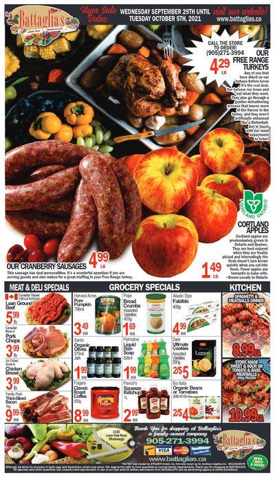 Battaglia's Marketplace Flyer September 29 to October 5