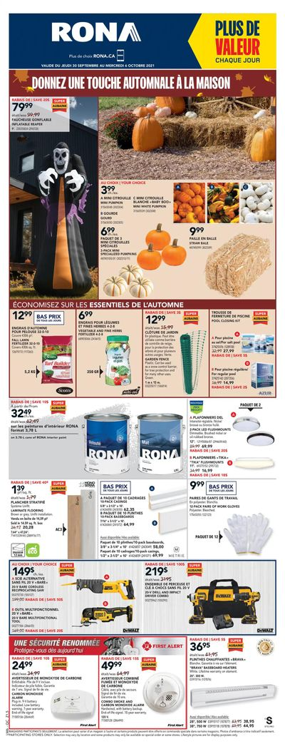 Rona (QC) Flyer September 30 to October 6