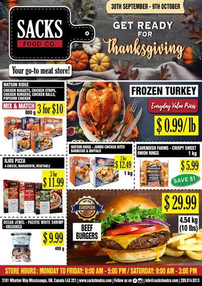 Sacks Food Co. Flyer September 30 to October 9