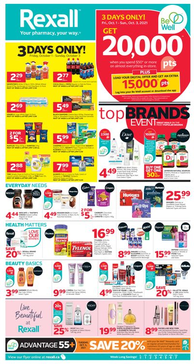 Rexall (AB) Flyer October 1 to 7