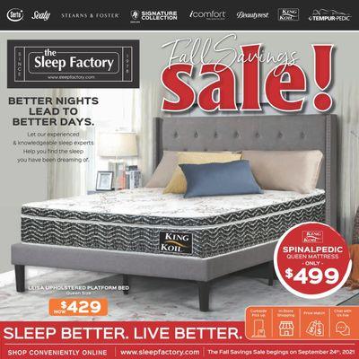 The Sleep Factory Flyer September 30 to November 10