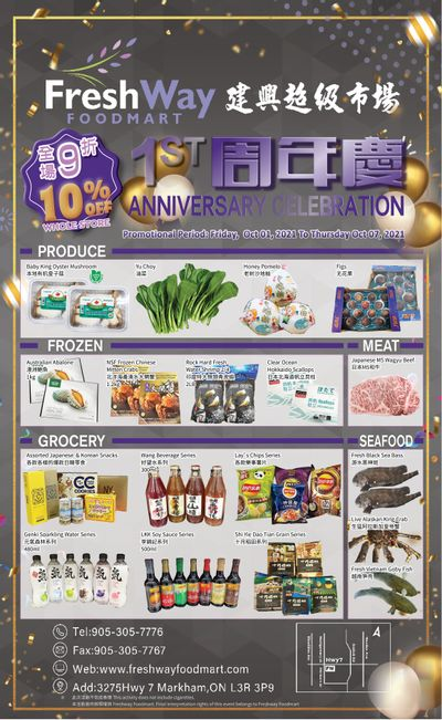 FreshWay Foodmart Flyer October 1 to 7