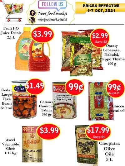 Noor Food Market Flyer October 1 to 7