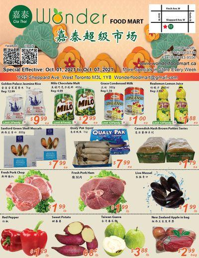 Wonder Food Mart Flyer October 1 to 7