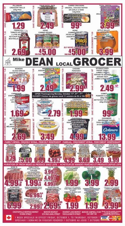 Mike Dean Local Grocer Flyer October 1 to 7