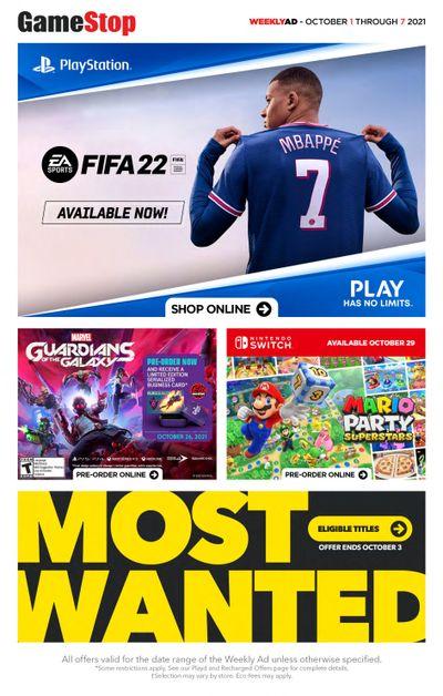 GameStop Flyer October 1 to 7