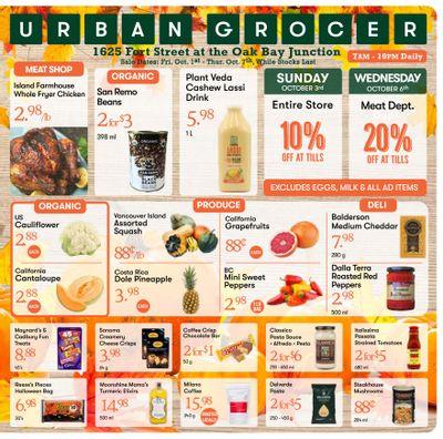 Urban Grocer Flyer October 1 to 7