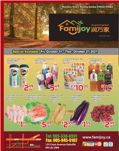 Famijoy Supermarket Flyer October 1 to 7