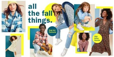 Old Navy Canada Deals: Save Up to 75% OFF Clearance + 35% OFF Your Purchase + More
