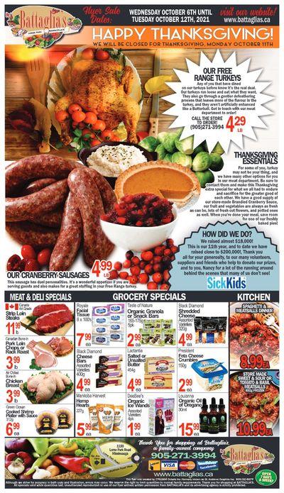 Battaglia's Marketplace Flyer October 6 to 12
