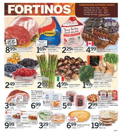 Fortinos Flyer October 7 to 10