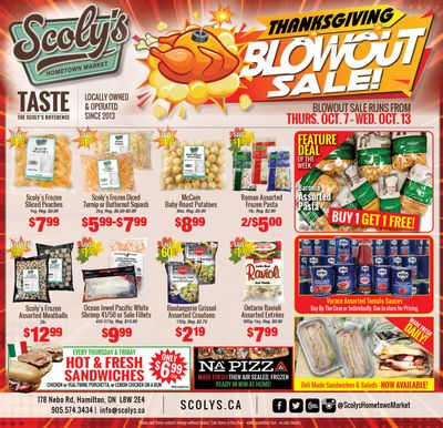 Scoly's Hometown Market Flyer October 7 to 13