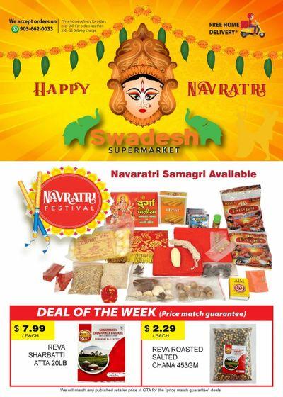 Swadesh Supermarket Flyer October 7 to 13
