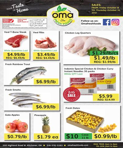 Oma Fresh Foods Flyer October 8 to 14