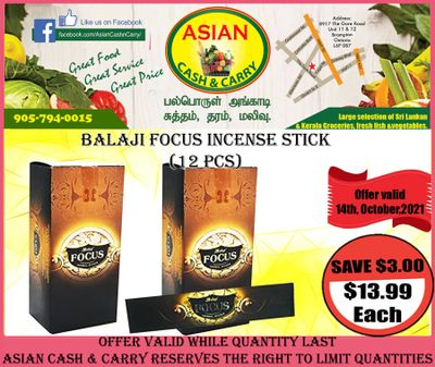 Asian Cash & Carry Flyer October 8 to 14
