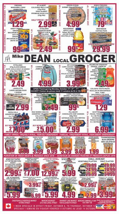 Mike Dean Local Grocer Flyer October 8 to 14