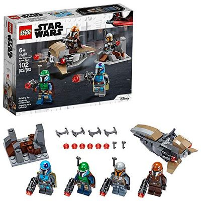 LEGO Star Wars Mandalorian Battle Pack 75267 Mandalorian Shock Troopers and Speeder Bike Building Kit; Great Gift Idea for Any Fan of Star Wars: The Mandalorian TV Series, New 2020 (102 Pieces) $15.98 (Reg $19.99)
