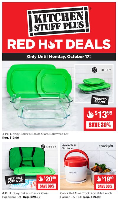 Kitchen Stuff Plus Red Hot Deals Flyer October 12 to 17