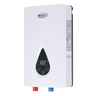 Marey ECO150 220V/240V-14.6KW Tankless Water Heater with Smart Technology, Small, White $278.64 (Reg $296.52)