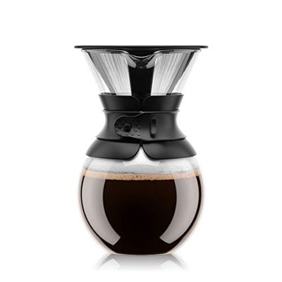 Bodum 11571-01 Pour Over Coffee Maker with Permanent Filter, 34-Ounce, Black $19.99 (Reg $39.00)