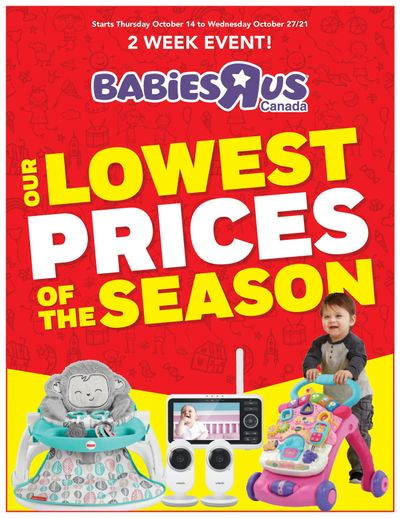 Babies R Us Lowest Prices of the Season Flyer October 14 to 27