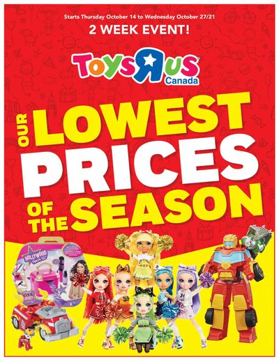 Toys R Us Lowest Prices of the Season Flyer October 14 to 27
