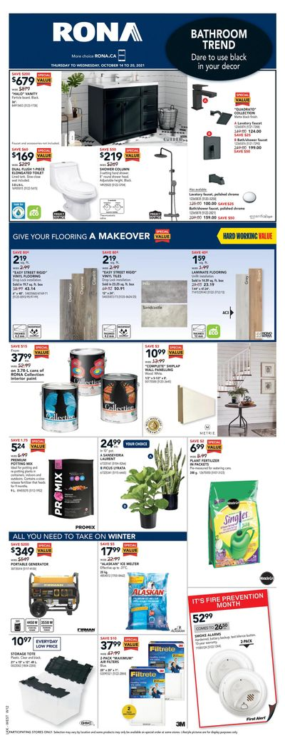 Rona (West) Flyer October 14 to 20