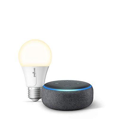 Echo Dot (3rd Gen) - Smart speaker with Alexa - Charcoal with Sengled Bluetooth bulb $54.99 (Reg $69.98)
