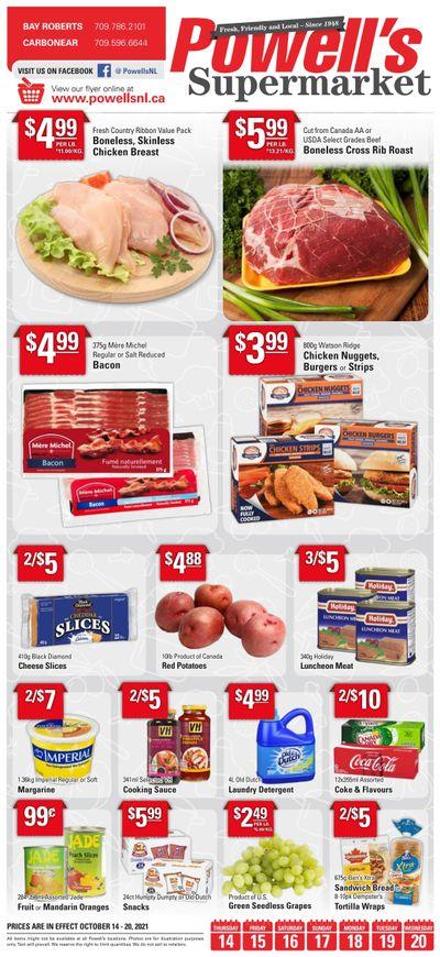 Powell's Supermarket Flyer October 14 to 20