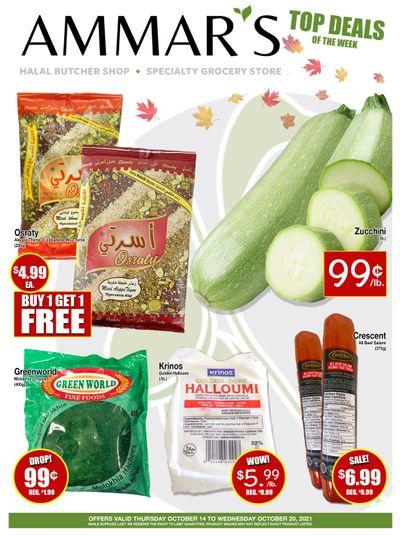 Ammar's Halal Meats Flyer October 14 to 20