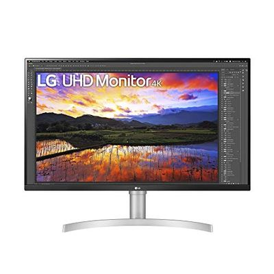 LG 32UN650-W 32 Inch UHD (3840 x 2160) IPS Ultrafine Display with HDR10 Compatibility, DCI-P3 95% Color Gamut, AMD FreeSync, and 3-Side Virtually Borderless Height Adjustable Stand, Silve/White $499.98 (Reg $537.01)