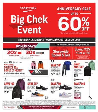 Sport Chek Anniversary Sale Flyer October 14 to 20