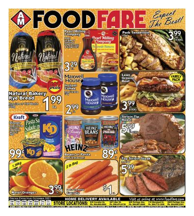 Food Fare Flyer October 16 to 22