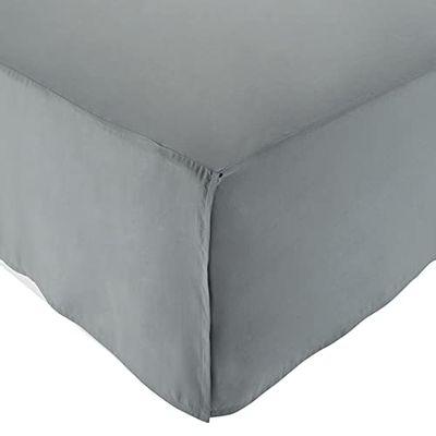 AmazonBasics Pleated Bed Skirt - Twin, Dark Grey $8.57 (Reg $14.93)