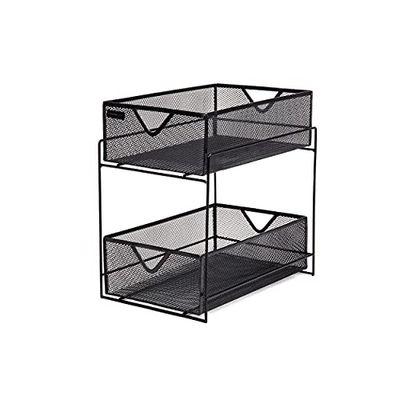 Mind Reader 2 Tier Metal Mesh Storage Baskets Organizer, Home, Office, Kitchen, Bathroom, Black $30.97 (Reg $44.91)